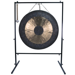 "The Gong Shop Huge Chinese Gongs with Stand Combos 36"" to 50"" 40"" Chau Gong on Wuhan Gong Stand with Mallet"