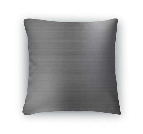 Throw Pillow, Dark Grey Brushed Metal Industrial