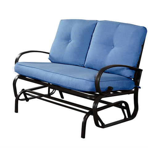 Outdoor Rocking Loveseat Bench - Distinguished Decorum