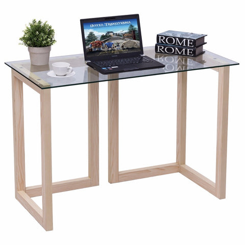 Modern Tempered Glass  Accent Table
