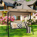 3 Person Canopy Swing Chair - Distinguished Decorum