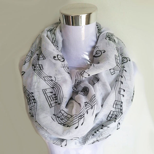 Women Musical Notes Scarf