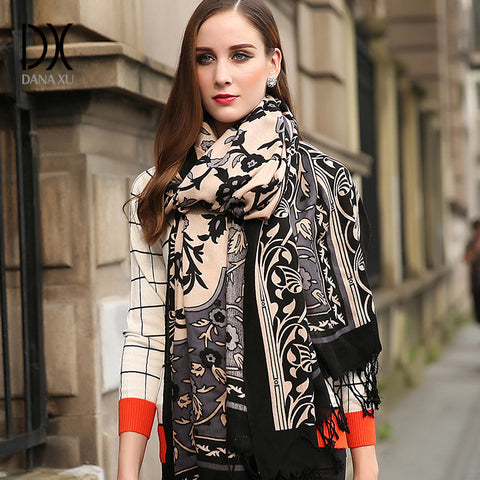 Wool and Silk Basic Shawls Women's Scarves