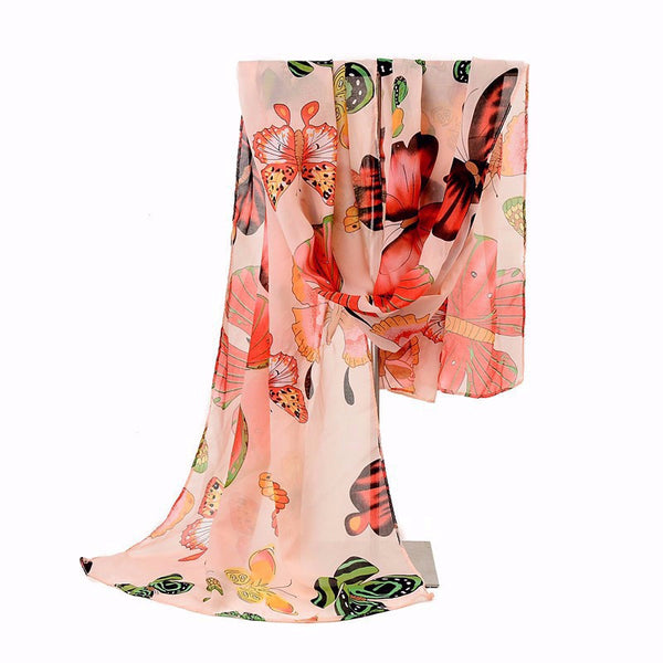 Butterfly Print Shawls Scarf