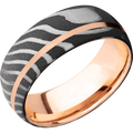 *In Stock* Damascus & Rose Gold Band