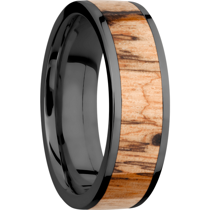 *In Stock!* Zirconium & Wood Band