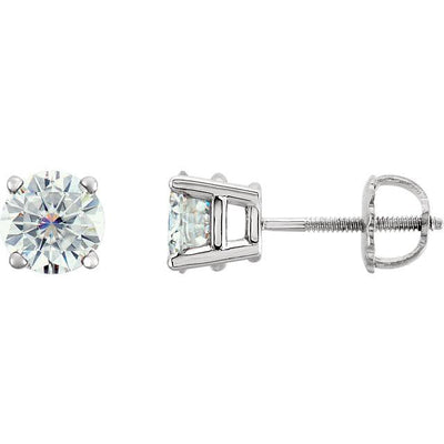 *Choose Your Size* 4 Prong Lab-Grown Diamond Stud Earrings