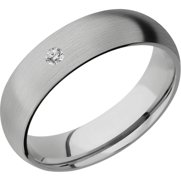 Men's Flush Set Diamond Band
