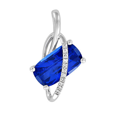 *In Stock!* Blue Sapphire & Diamond Necklace
