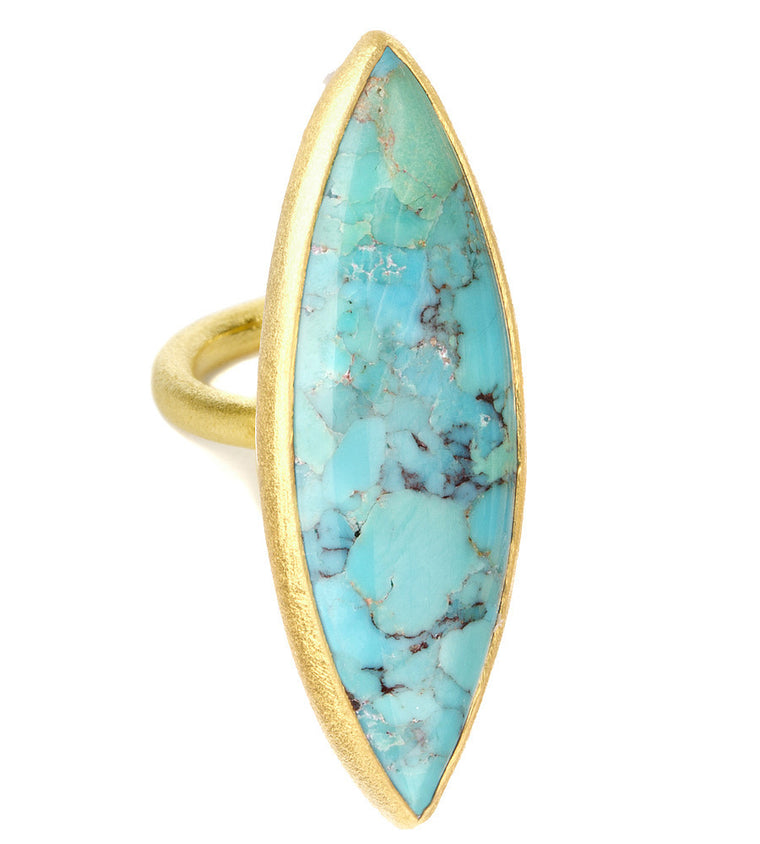Gold Vermeil Turquoise Ring