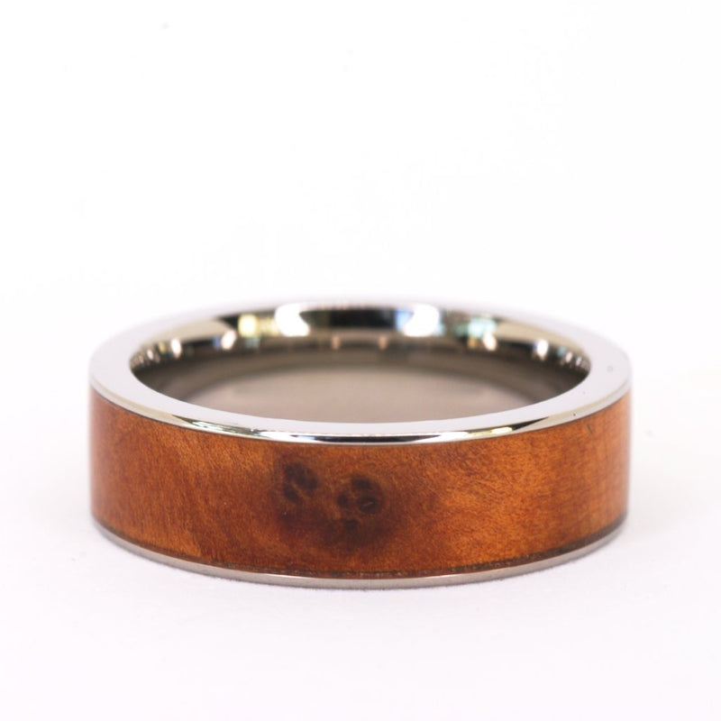 *In Stock!* Titanium & Wood Band