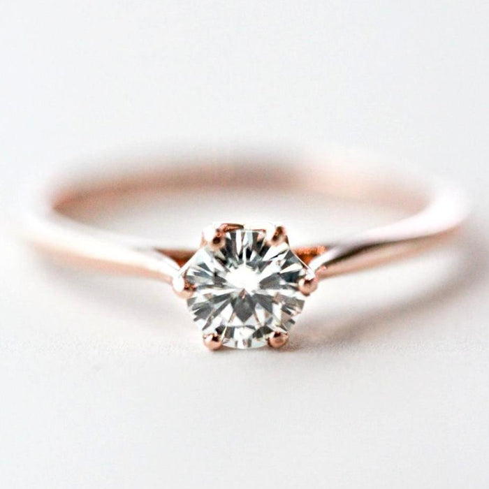 *In Stock!* Jasmine 1/2 carat Moissanite Engagement Ring