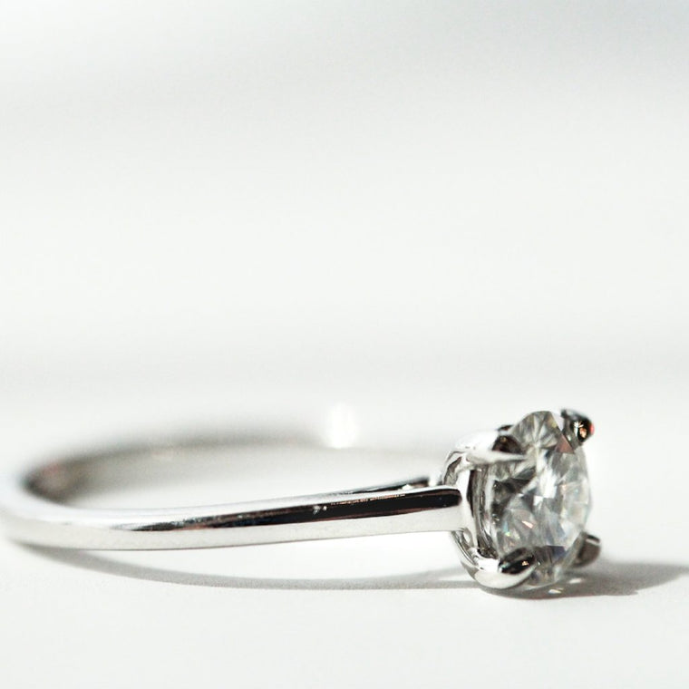 *In Stock!* Brittany Moissanite Engagement Ring