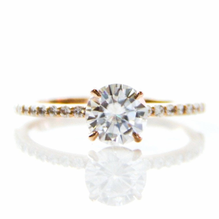 *In Stock!* Aurora Moissanite Engagement Ring