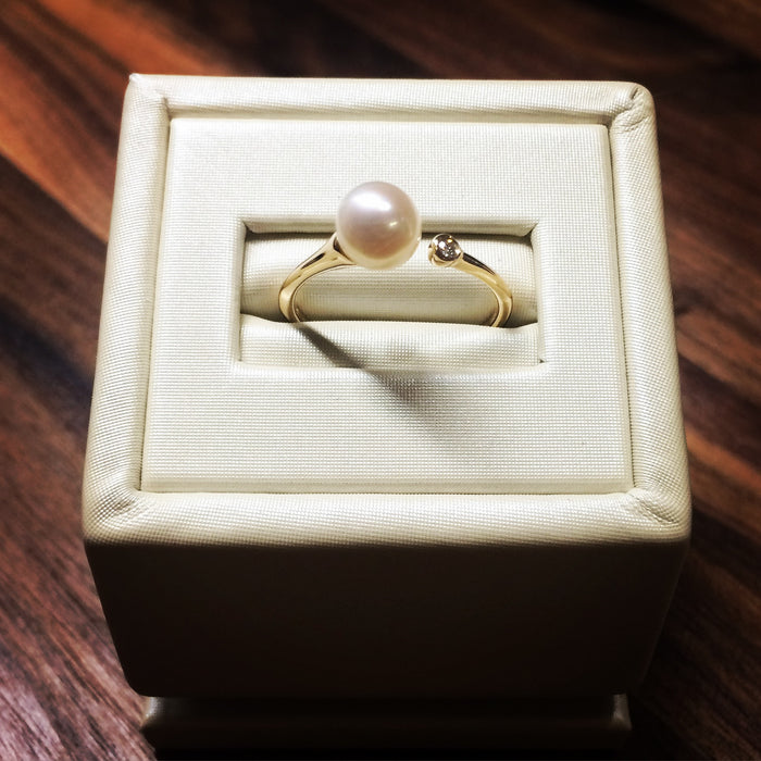 Open end pearl ring