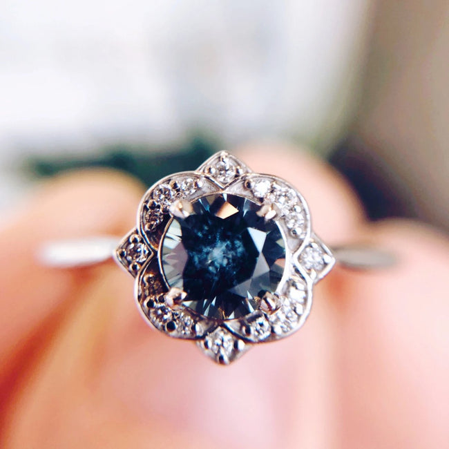 Esther Montana Sapphire Engagement Ring