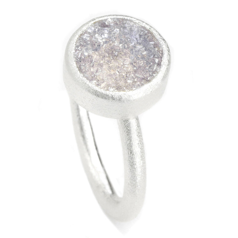 *In Stock!* Sterling Silver Druzy Ring