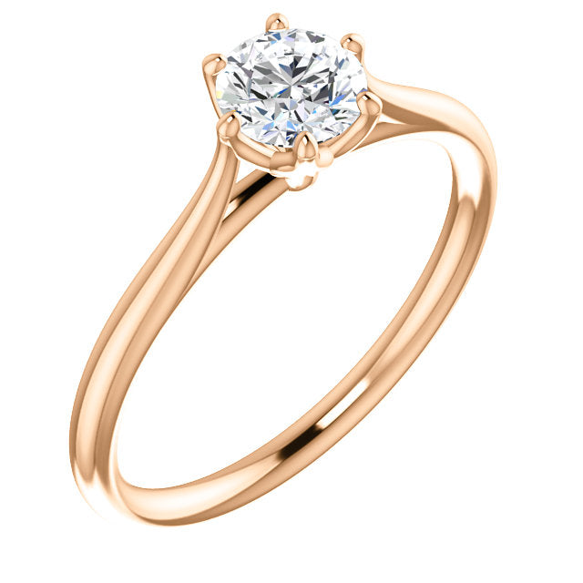 *In Stock!* Jasmine Moissanite Engagement Ring (1/2 carat)