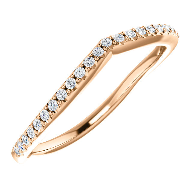Lily Contoured Diamond Band - 1/8 Carat
