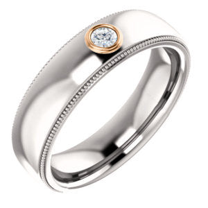 Men's Milgrain Diamond Band