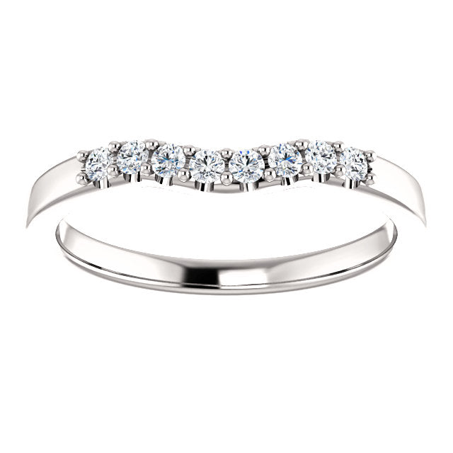 Lucy contour diamond band - 1/6 carat
