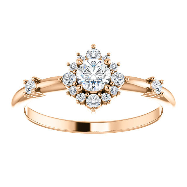 *In Stock* Rosie Moissanite Engagement Ring (Rose Gold) - Refurbished