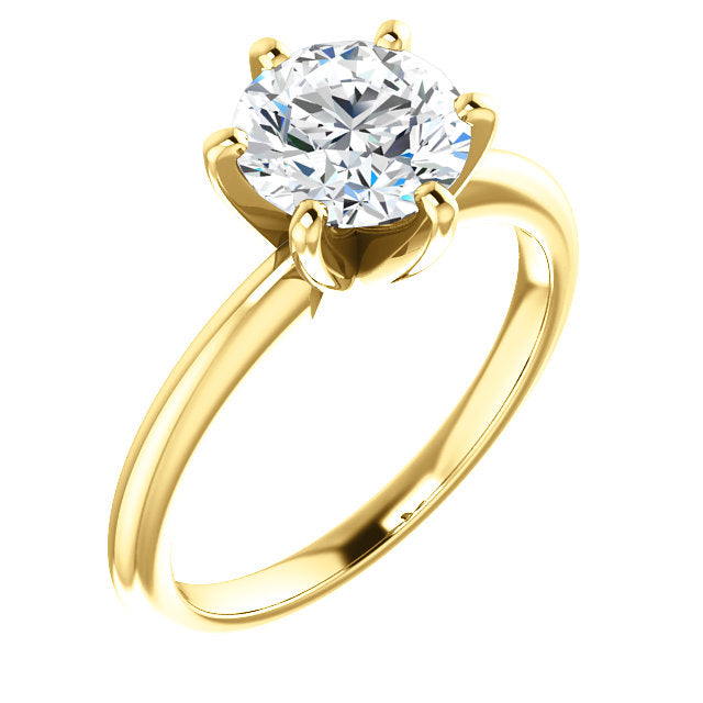 Ashley 6 prong Moissanite Engagement Ring