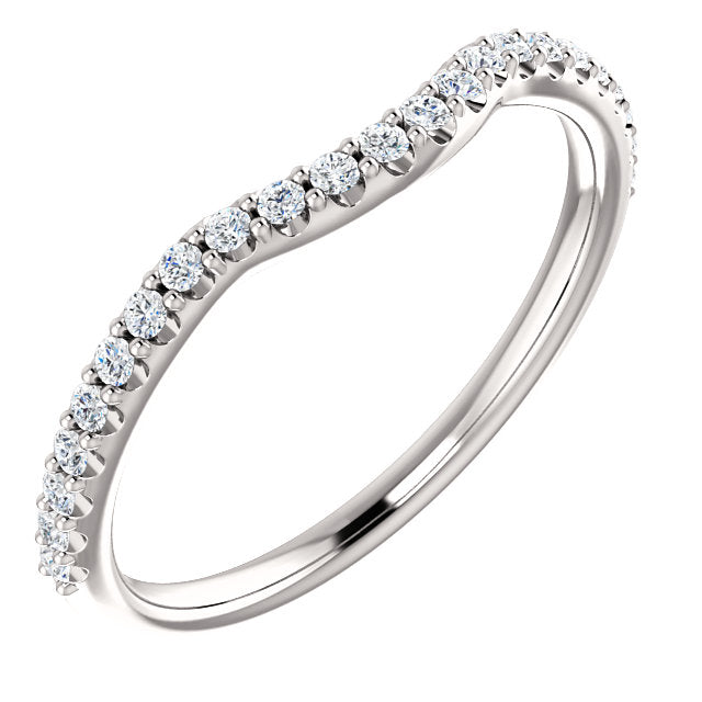 Molly Contoured Diamond Band - 1/4 Carat