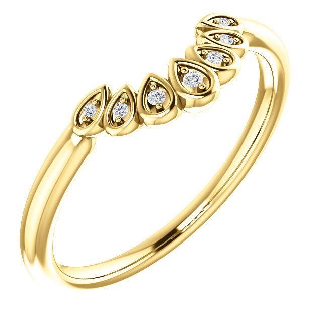 Valery Contoured Diamond Band