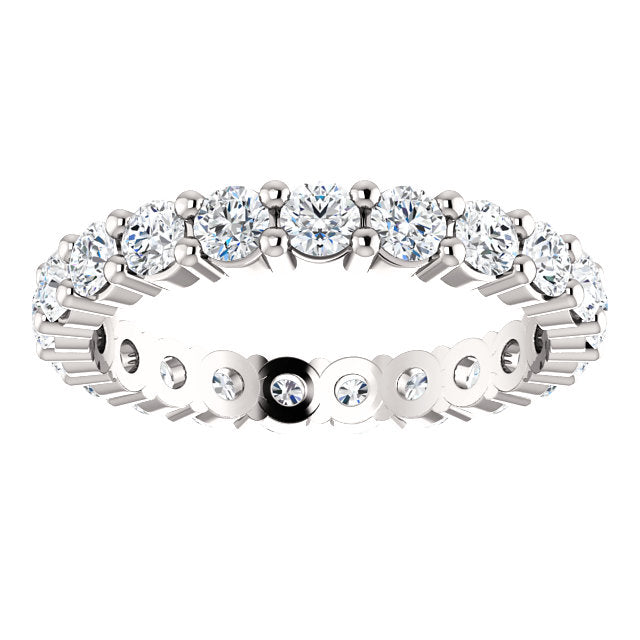 Abigail Rose Cut Moissanite Eternity Band