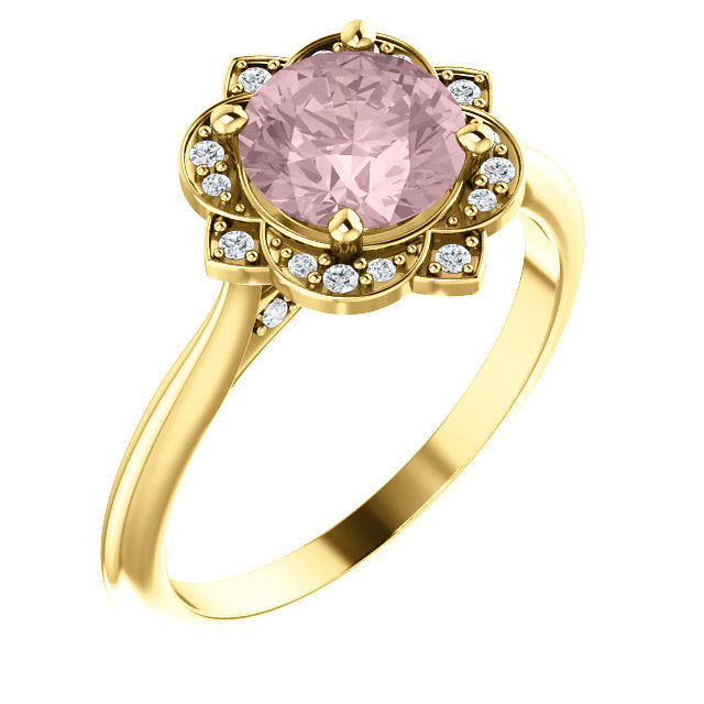 Esther Champagne Sapphire Engagement Ring