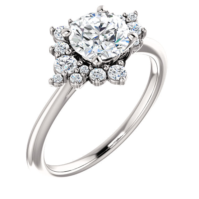 Gwen Moissanite Engagement Ring