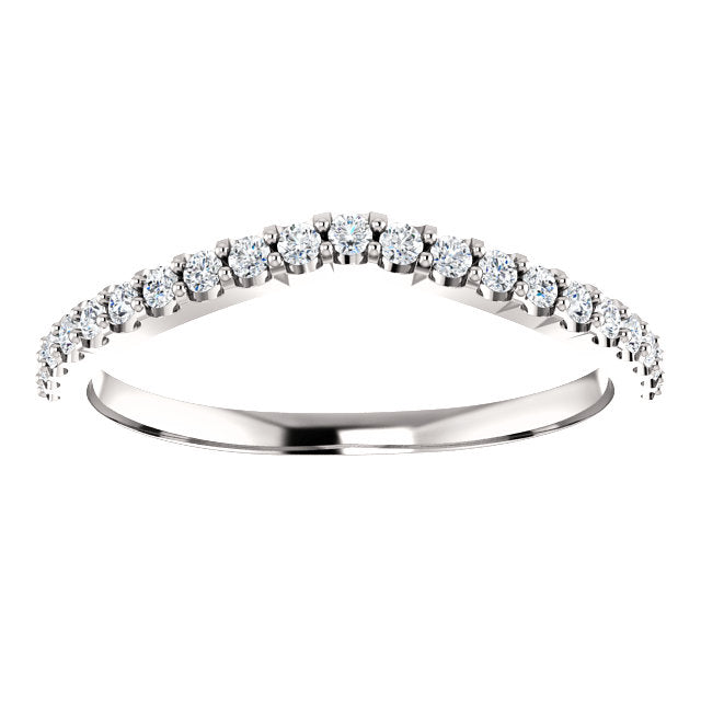 Hayley Contoured Diamond Band - 1/4 Carat