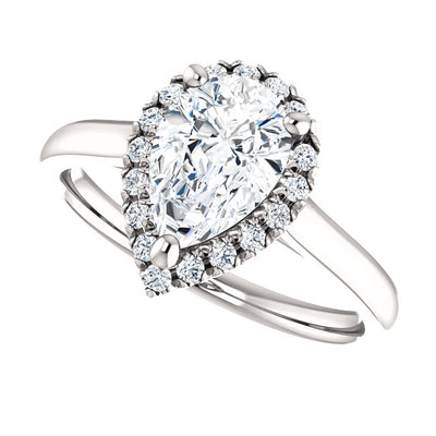 Frances Moissanite Engagement Ring