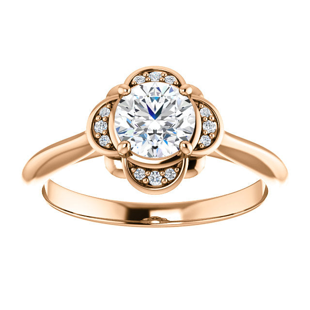 Claire Moissanite Engagement Ring