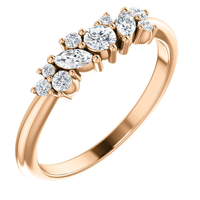 Morgane Multi Stone Moissanite Ring