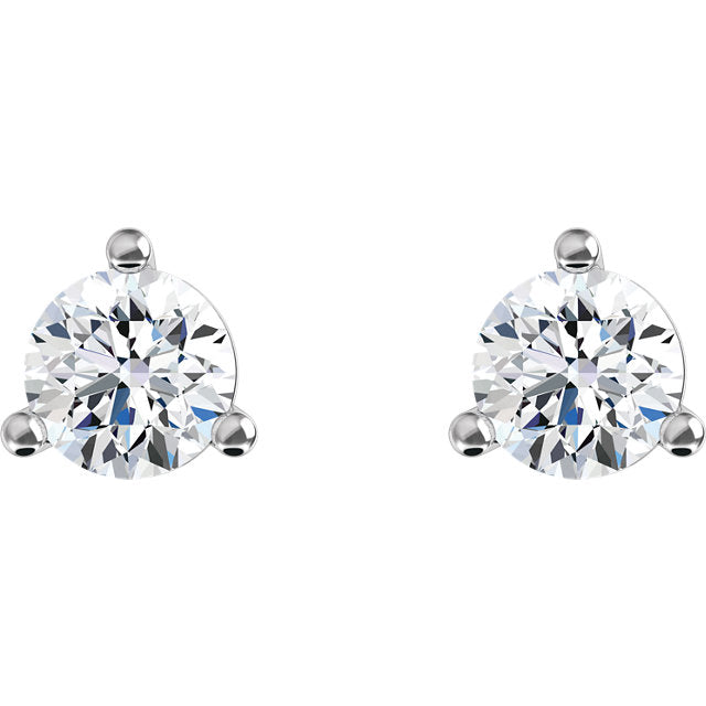 *In Stock!* 1/3 Carat White Gold Lab Grown Diamond Stud Earrings