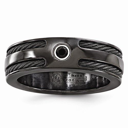 Men's Black Titanium Band
