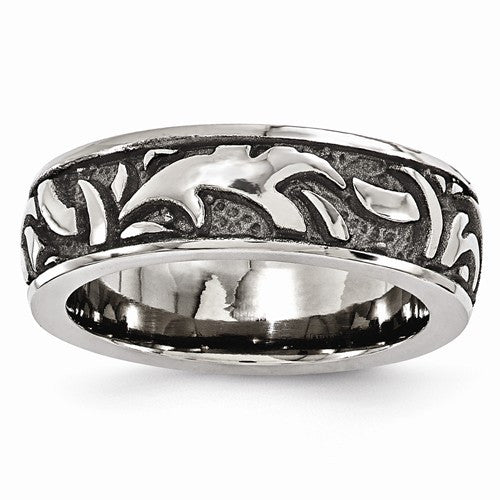Men's 7mm Casted Titanium Band (Black or Grey)