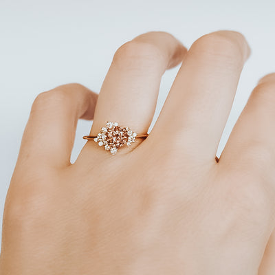 *In Stock* Gwen Rosé Sapphire Engagement Ring (Rose gold)