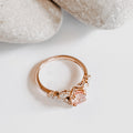 *In Production* Anastasia Rosé Sapphire Engagement Ring (Rose Gold)