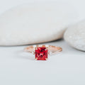 *In Stock* Sally Padparadscha Sapphire Engagement Ring