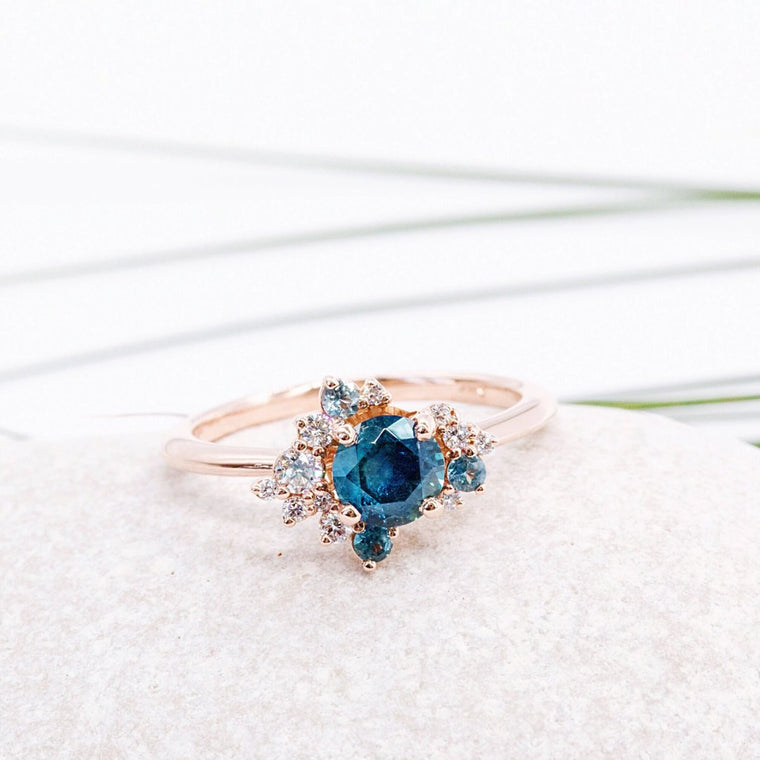 *In Production* Gwen Montana Sapphire Engagement Ring (Rose gold)