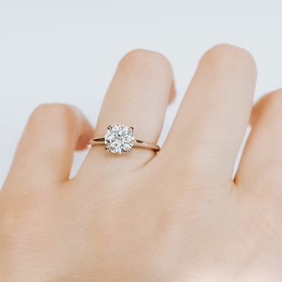 *In Stock!* Brittany 1.50 carat Moissanite Engagement Ring
