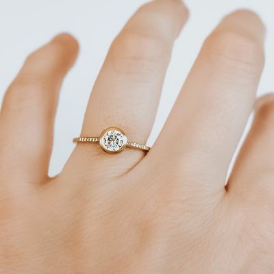 *In Stock* Annie 1/2 carat Moissanite Engagement Ring