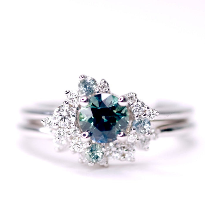 *In Stock* Gwen Montana Sapphire Engagement Ring (White gold)