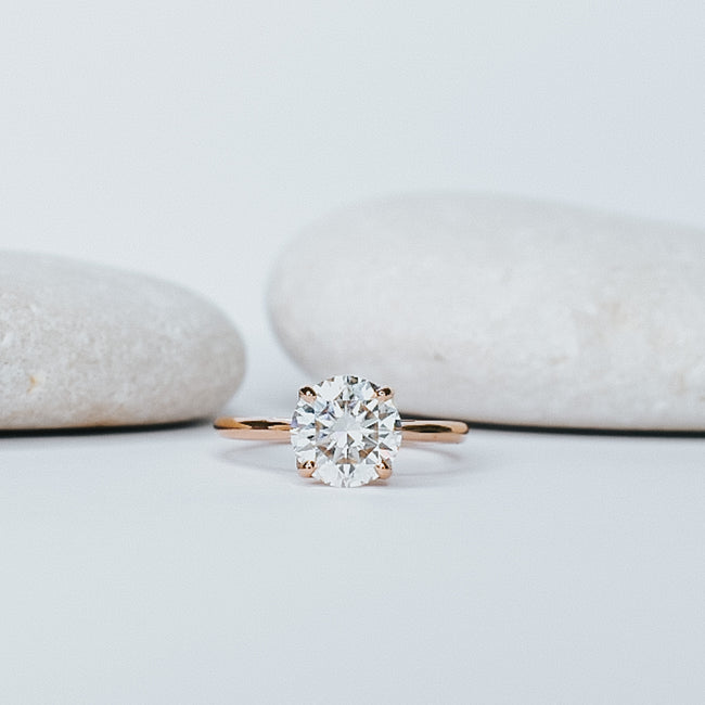 Jacinth Diamond Engagement Ring