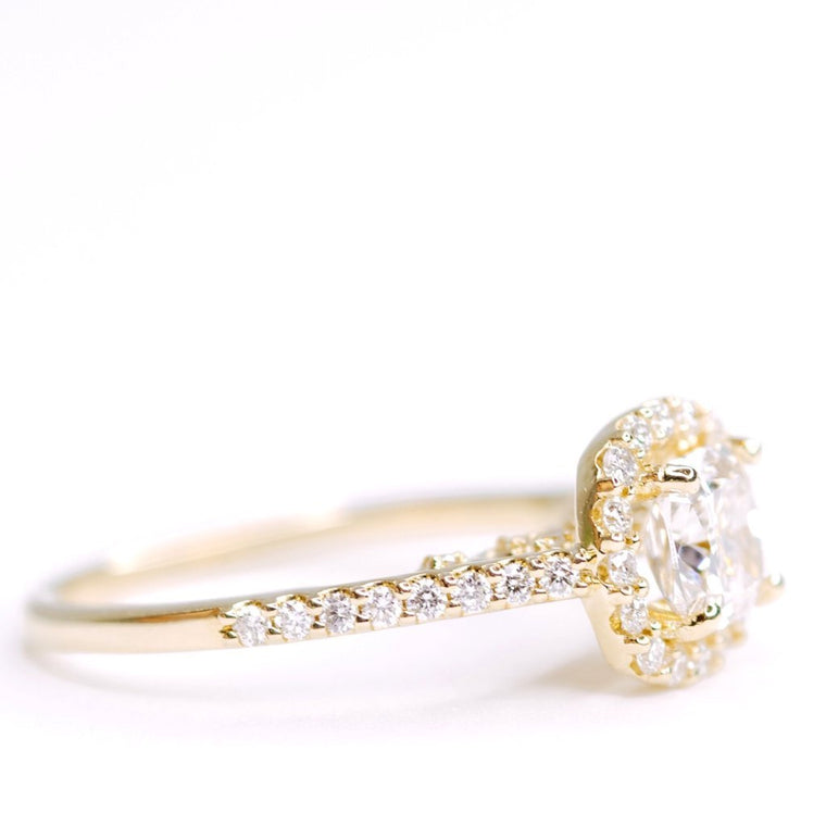 *In Stock!* Mia Cushion Cut Diamond Engagement Ring