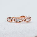 *In Stock* Amelia Diamond Wedding Band (Rose Gold)