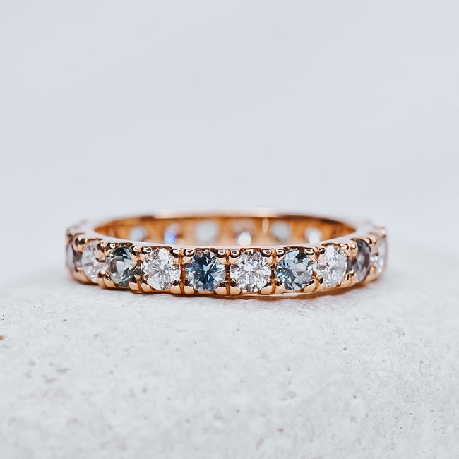 *In Stock* Avery Diamond & Montana Sapphire Band (2.5mm)